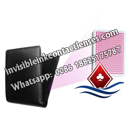 Schwarze Kurze Brieftasche Scannen Kamera
