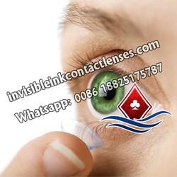Grüne Gezinkten Karten Kontaktlinsen
