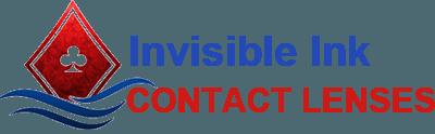 Lentes de contato com tinta invisível