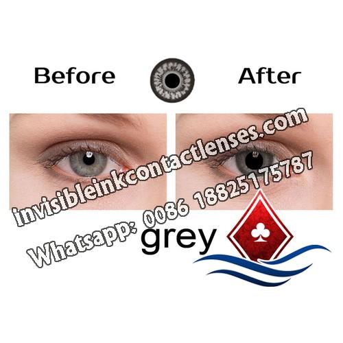 Lentes de Contacto de Poker Infravermelhos Para Olhos Cinzentos