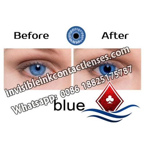 Lenti a contatto poker blu