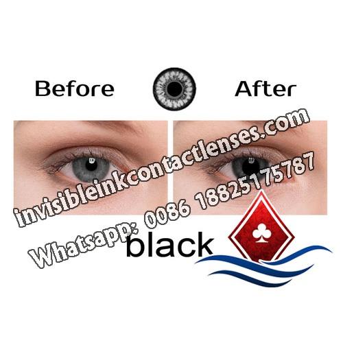 Schwarz leuchtende Kontaktlinsen